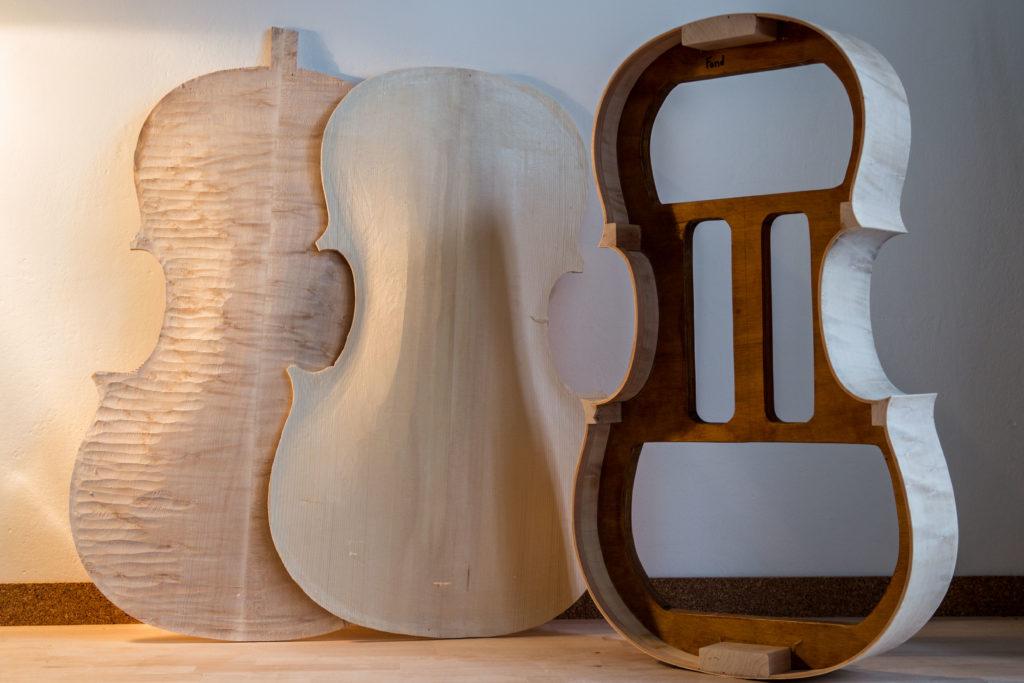 violin maker Matthieu Legros construction of a new cello in Brno